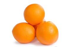 Groupe of orange fruits Stock Images