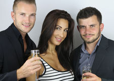 Groupe of people celebrate the new year Stock Photos