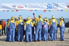 Groupe polaire de plongeon Photos stock