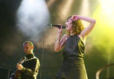Groupe pop espagnol de daconte de Nena vivant sur l'étape Photographie stock libre de droits