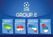 Groupe rond final du football de la Russie dans la couleur de drapeau d'icône de carte illustration libre de droits