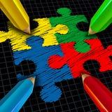 Groupe se réunissant d'affaires Image libre de droits