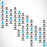 Groupe social de réseau de media Photo libre de droits