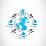 Groupe social du monde de medias Images libres de droits