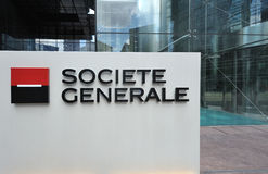 Groupe Societe Generale headquarter entrance stock image