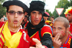 Groupe spanish football fans Stock Photography