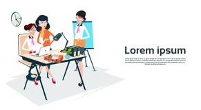 Groupe Team Workplace Office Teamwork de femme d'affaires illustration de vecteur