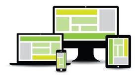 Groupe technologique de site Web Images libres de droits