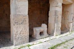 Groupe, temple des jaguars, Chichen Itza Images libres de droits