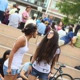 Groupe théâtral d'improvisation à Lima, Pérou Image libre de droits