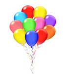 Groupe transparent de ballons de vecteur Images stock