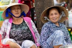Groupe vietnamien de vendeurs Photo stock