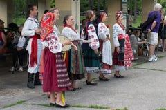 Groupe vocal authentique de l'Ukraine Images libres de droits