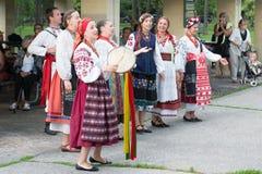 Groupe vocal authentique de l'Ukraine Photographie stock
