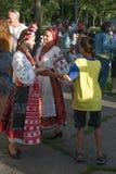 Groupe vocal authentique de l'Ukraine Photo libre de droits