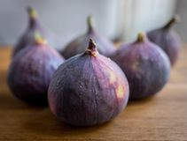 Group of whole ripe figs close-up shot stock photos