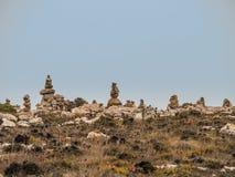 Groupement des pierres comme symbole de la connaissance et du désir de retourner photos libres de droits