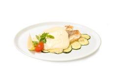 Grouper άσπρη σάλτσα Στοκ Φωτογραφίες
