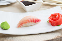 Grouper sushi nigiri Stock Images