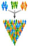Groupes illustration stock