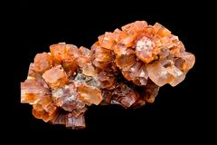 Groupes d'Aragonite, cristal, cristaux photo libre de droits