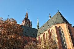 Groupes d'architecture de cathédrale de Francfort Photo libre de droits