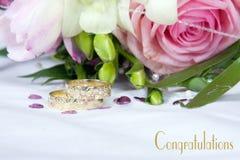 Groupes de mariage - félicitations Images stock