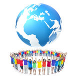 Groupes de personnes tenant des mains Photographie stock libre de droits