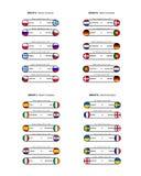 Groupes - euro 2012 Images libres de droits