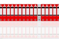 Groupez le gris et le rouge de dépliant de bureau illustration de vecteur