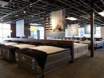 Groupez le matelas à vendre au magasin d'experts en matière de sommeil Photos stock
