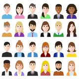 Groupez les travailleurs de diversité d'og, l'homme divers d'affaires et le woma illustration de vecteur