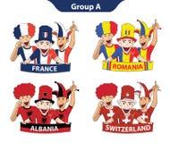 Groupez un euro 2016 illustration stock