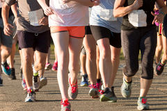 Groupf of runners racing close to each other Royalty Free Stock Photography