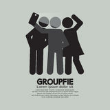 Groupfie Symbol, A Group Selfie By Phone Stock Photo