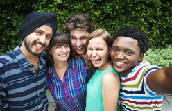 Groupie Together Teamwork Connection College Concept stock photography