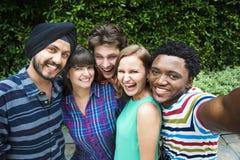 Groupie-zusammen Teamwork-Verbindungs-College-Konzept Lizenzfreies Stockbild