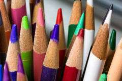 Grouping of Colored Pencils Stock Photo