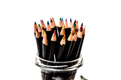 Grouping of colorful pencils. Royalty Free Stock Image