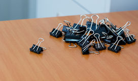 Grouping of paperclips. Royalty Free Stock Photography