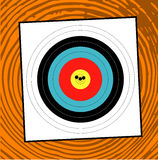 Grouping. A target with a grouping of bullet holes close to the bulls eye Royalty Free Stock Photography