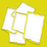Grouping of Yellow Frames Stock Photos
