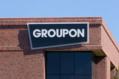 Groupon kontor i Silicon Valley Arkivbild