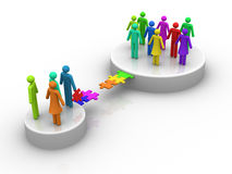 Groups. 3d rendered image on white background : Groups vector illustration