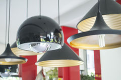 Groups of black lamps Stock Photos