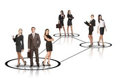 Groups of business people with leader Royalty Free Stock Photography