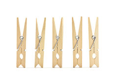 Groups clothes peg. Royalty Free Stock Photo