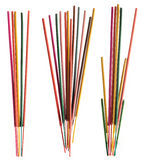 Groups of colorful incense sticks Royalty Free Stock Photo