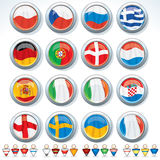 Groups of Euro 2012. Euro Tournament 2012. Flags of Groups and Signs of National Team Royalty Free Stock Photography