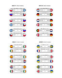 Groups - euro 2012 Royalty Free Stock Images